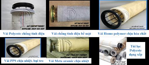 Các sản phẩm túi lọc bụi từ Đạt Tín