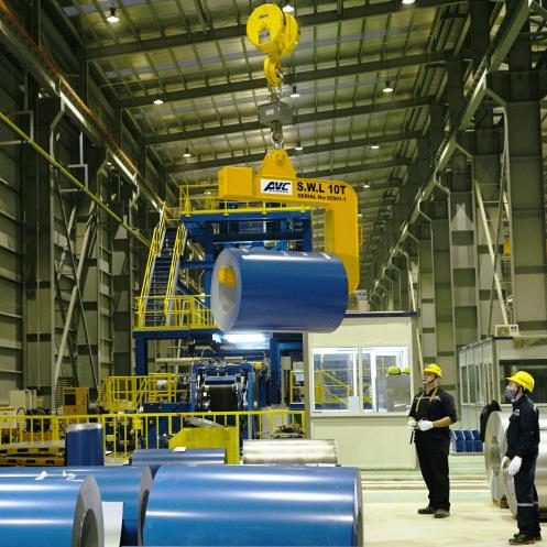 Hệ thống xử lý khí thải trong nhà máy sản xuất tôn mạ