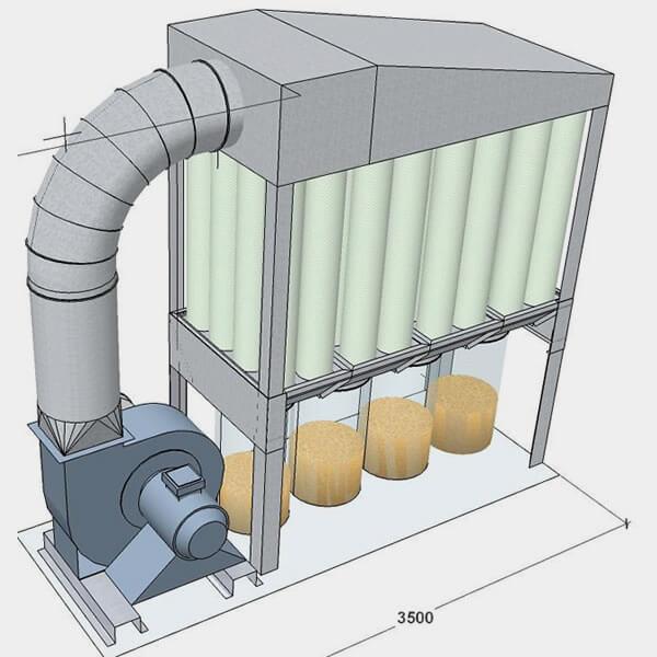 Nguyên lý hoạt động của hệ thống lọc bụi rung giũ khí nén